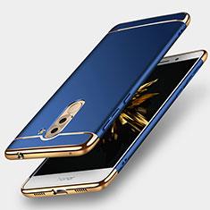 Housse Contour Luxe Metal et Plastique M02 pour Huawei Honor 6X Pro Bleu