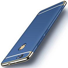 Housse Contour Luxe Metal et Plastique M02 pour Huawei Nova Bleu