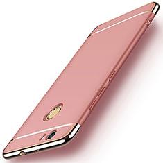 Housse Contour Luxe Metal et Plastique M02 pour Huawei Nova Or Rose