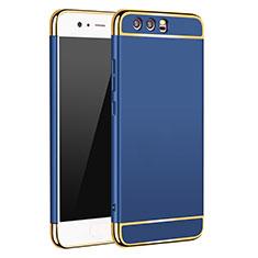 Housse Contour Luxe Metal et Plastique M02 pour Huawei P10 Bleu