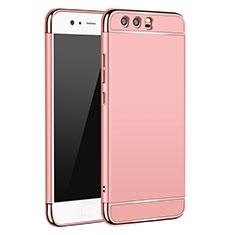 Housse Contour Luxe Metal et Plastique M02 pour Huawei P10 Or Rose