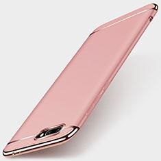 Housse Contour Luxe Metal et Plastique pour Huawei Honor 10 Or Rose