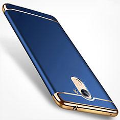 Housse Contour Luxe Metal et Plastique pour Huawei Honor 6A Bleu