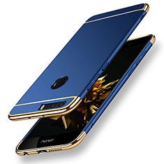 Housse Contour Luxe Metal et Plastique pour Huawei Honor 8 Bleu