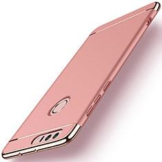 Housse Contour Luxe Metal et Plastique pour Huawei Honor 8 Or Rose