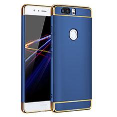 Housse Contour Luxe Metal et Plastique pour Huawei Honor V8 Bleu