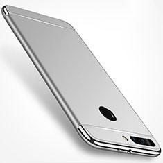 Housse Contour Luxe Metal et Plastique pour Huawei Honor V9 Argent