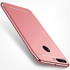 Housse Contour Luxe Metal et Plastique pour Huawei Honor V9 Or Rose