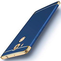 Housse Contour Luxe Metal et Plastique pour Huawei Mate 8 Bleu