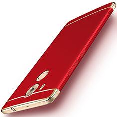 Housse Contour Luxe Metal et Plastique pour Huawei Mate 8 Rouge