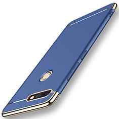 Housse Contour Luxe Metal et Plastique pour Huawei Nova 2 Plus Bleu