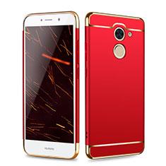 Housse Contour Luxe Metal et Plastique pour Huawei Y7 Prime Rouge