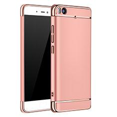 Housse Contour Luxe Metal et Plastique pour Xiaomi Mi 5S 4G Or Rose
