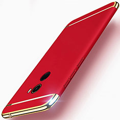 Housse Contour Luxe Metal et Plastique pour Xiaomi Mi Mix 2 Rouge