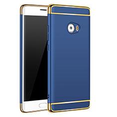 Housse Contour Luxe Metal et Plastique pour Xiaomi Mi Note 2 Special Edition Bleu