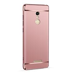 Housse Contour Luxe Metal et Plastique pour Xiaomi Redmi Note 3 MediaTek Or Rose