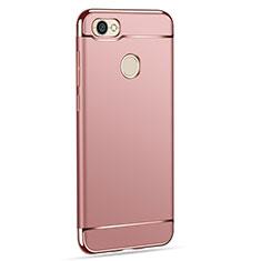 Housse Contour Luxe Metal et Plastique pour Xiaomi Redmi Note 5A High Edition Or Rose