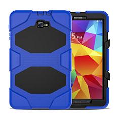 Housse Contour Silicone et Plastique Mat avec Support pour Samsung Galaxy Tab A6 10.1 SM-T580 SM-T585 Bleu