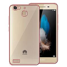 Housse Contour Silicone et Vitre Transparente Mat pour Huawei P8 Lite Smart Or Rose