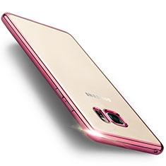 Housse Contour Silicone et Vitre Transparente Mat pour Samsung Galaxy Note 7 Rose