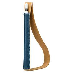Housse en Cuir Protection Sac Pochette Elastique Douille de Poche Detachable P01 pour Apple Pencil Apple iPad Pro 10.5 Bleu