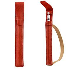 Housse en Cuir Protection Sac Pochette Elastique Douille de Poche Detachable P02 pour Apple Pencil Apple iPad Pro 10.5 Rouge