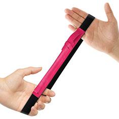 Housse en Cuir Protection Sac Pochette Elastique Douille de Poche Detachable P03 pour Apple Pencil Apple New iPad 9.7 (2018) Rose Rouge