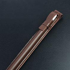 Housse en Cuir Protection Sac Pochette Elastique Douille de Poche Detachable P04 pour Apple Pencil Apple iPad Pro 10.5 Marron