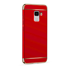 Housse Luxe Aluminum Metal pour Huawei Honor 7 Dual SIM Rouge