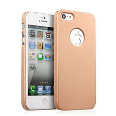 Housse Plastique Rigide avec Trou Mat pour Apple iPhone 5S Or