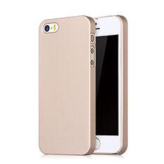 Housse Plastique Rigide avec Trou Mat pour Apple iPhone SE Or Rose