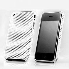 Housse Plastique Rigide Mailles Filet pour Apple iPhone 3G 3GS Blanc