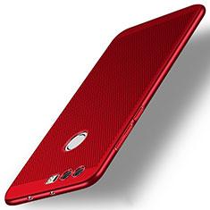 Housse Plastique Rigide Mailles Filet pour Huawei Honor 8 Rouge