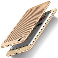 Housse Plastique Rigide Mailles Filet pour Huawei Y6 II 5.5 Or