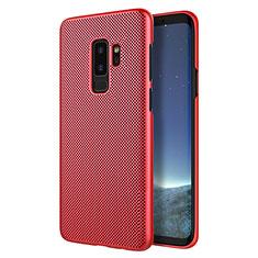 Housse Plastique Rigide Mailles Filet pour Samsung Galaxy S9 Plus Rouge