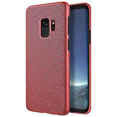 Housse Plastique Rigide Mailles Filet pour Samsung Galaxy S9 Rouge