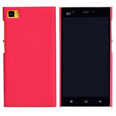 Housse Plastique Rigide Mailles Filet pour Xiaomi Mi 3 Rouge