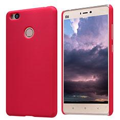 Housse Plastique Rigide Mailles Filet pour Xiaomi Mi 4S Rouge