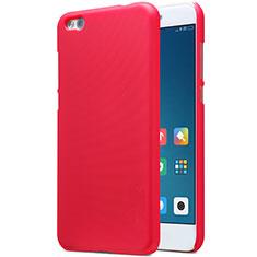 Housse Plastique Rigide Mailles Filet pour Xiaomi Mi 5C Rouge