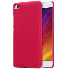 Housse Plastique Rigide Mailles Filet pour Xiaomi Mi 5S 4G Rouge