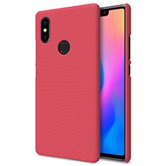 Housse Plastique Rigide Mailles Filet pour Xiaomi Mi 8 SE Rouge