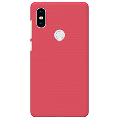 Housse Plastique Rigide Mailles Filet pour Xiaomi Mi Mix 2S Rouge