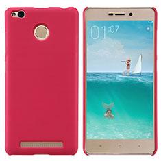 Housse Plastique Rigide Mailles Filet pour Xiaomi Redmi 3S Rouge