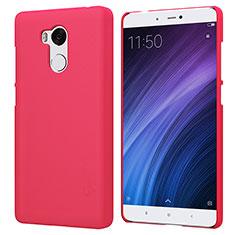 Housse Plastique Rigide Mailles Filet pour Xiaomi Redmi 4 Prime High Edition Rouge
