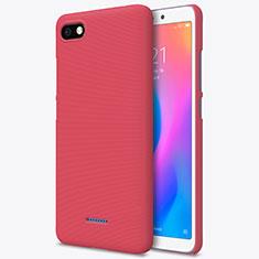 Housse Plastique Rigide Mailles Filet pour Xiaomi Redmi 6A Rouge