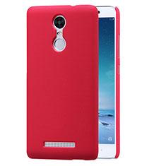 Housse Plastique Rigide Mailles Filet pour Xiaomi Redmi Note 3 MediaTek Rouge