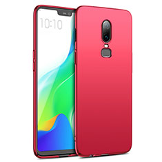 Housse Plastique Rigide Mat M02 pour OnePlus 6 Rouge