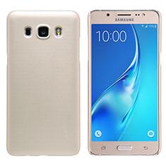 Housse Plastique Rigide Mat M02 pour Samsung Galaxy J5 Duos (2016) Or