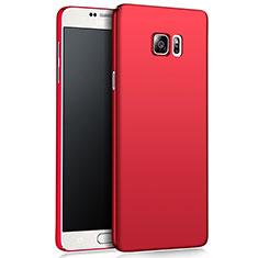 Housse Plastique Rigide Mat M03 pour Samsung Galaxy Note 5 N9200 N920 N920F Rouge
