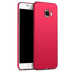 Housse Plastique Rigide Mat M05 pour Samsung Galaxy C7 SM-C7000 Rouge